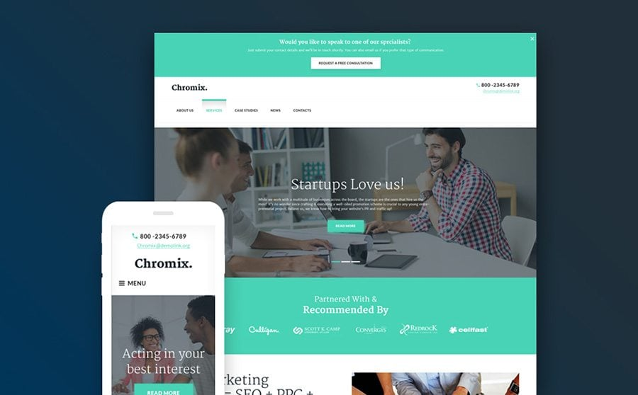 Chromix WordPress Theme