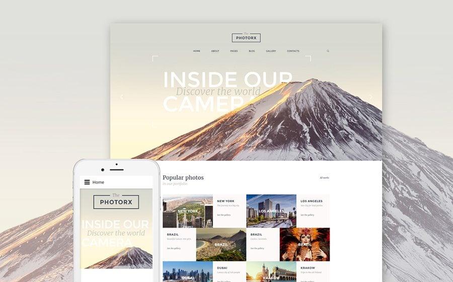 The Photorx - Photo Studio Responsive Joomla Template