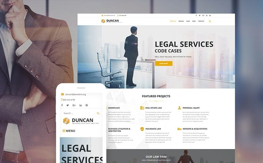 TOP 21 Law Firm Website Templates for WordPress 2018