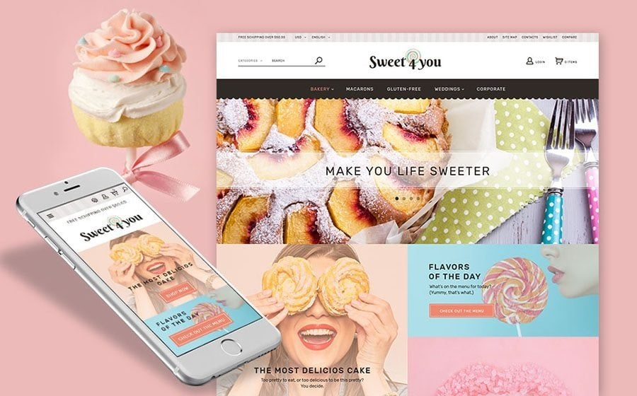 15+ Top Bakery Website Templates for Your Tasty Business - MonsterPost