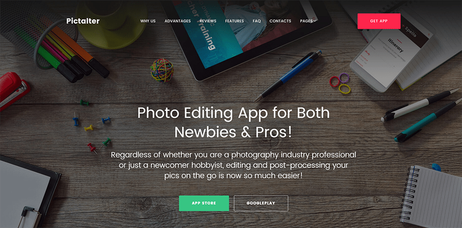 Photo Submission and Editing Application WordPress Theme