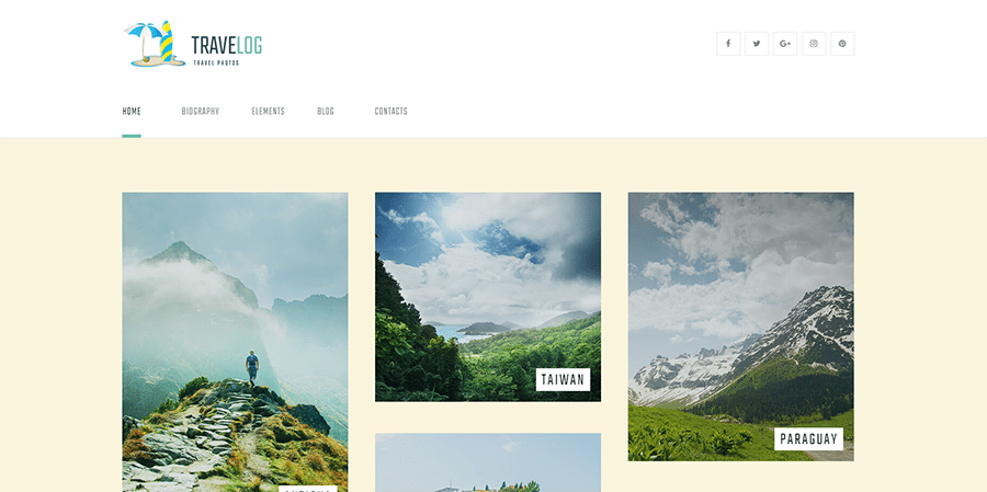 Travel Blog and Photo Gallery WordPress Theme