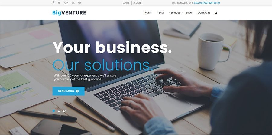 BigVenture, WP design for consultants