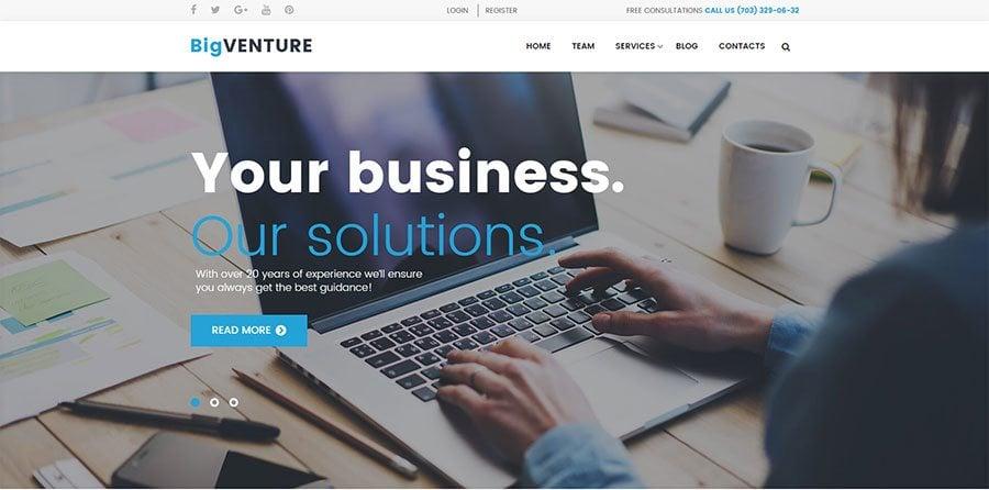 BigVenture, WP design for consultants