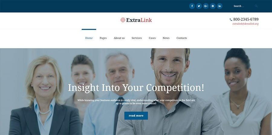 Business Analytics Agency WordPress Theme