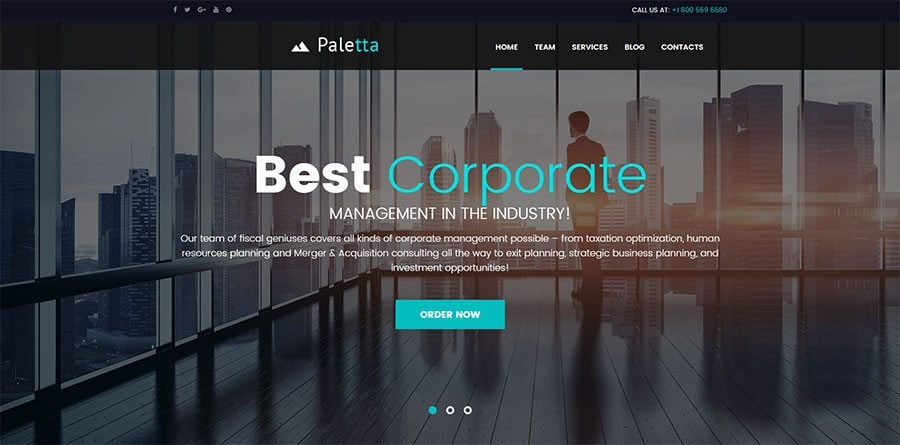 Corporate Consulting WP theme