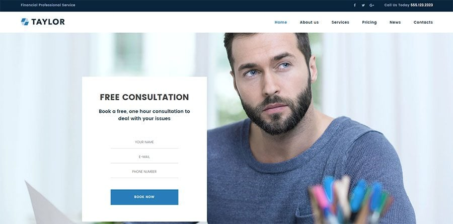 Taylor, financial consultant WP design