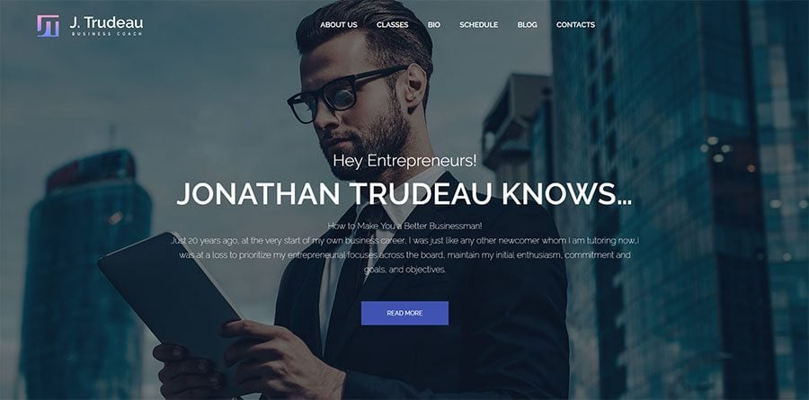 J.Trudeau, one of the best WordPress consulting themes