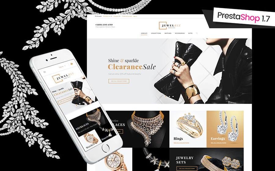Jewelrix - Jewelry & Beauty Items PrestaShop Theme