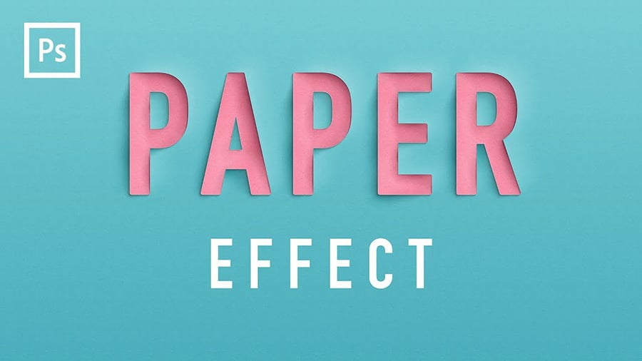 how to create a paper cutout text effect