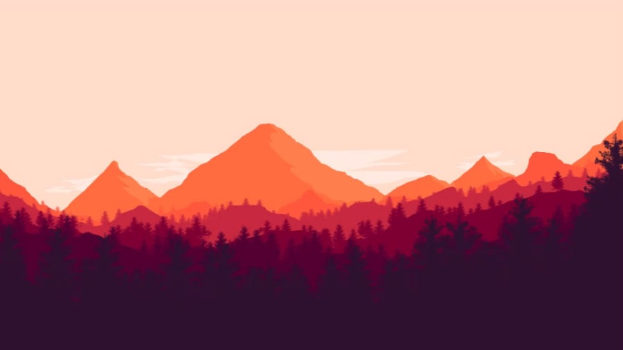 how to draw a mountain background