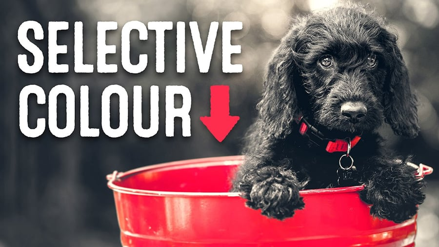 how to create selective photo effect
