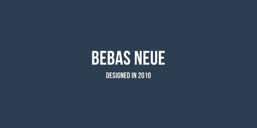bebas neue free sans serif font