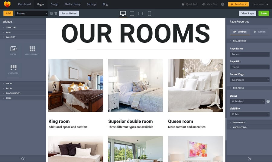 All Motocms 3 Hotels Website Templates Are Equipped With The Number Of Galleries For You To Choose From Why Not Experiment This Hotel Business