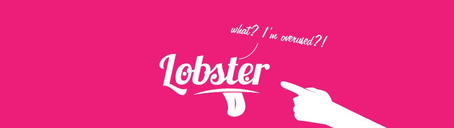 lobster font overused