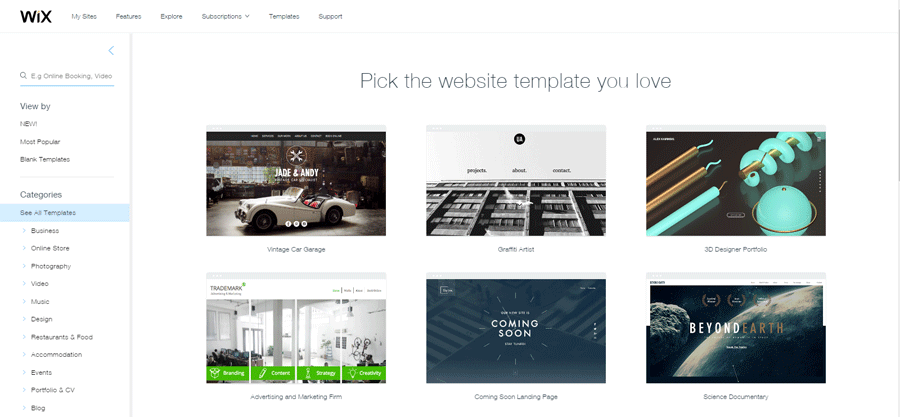 wix templates for wordpress - wix what 39 s your best visual builder the unknown side of