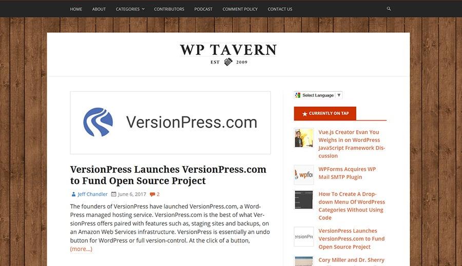 WordPress Blog WP Tavern
