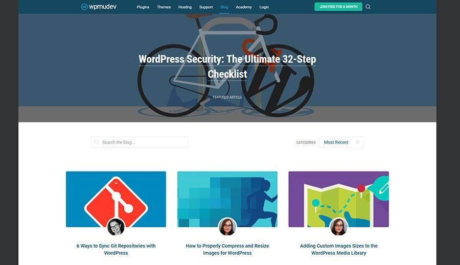 WordPress blog WPMU DEV