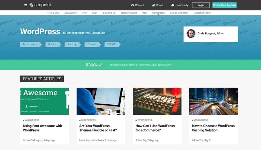 WordPress Blog SitePoint