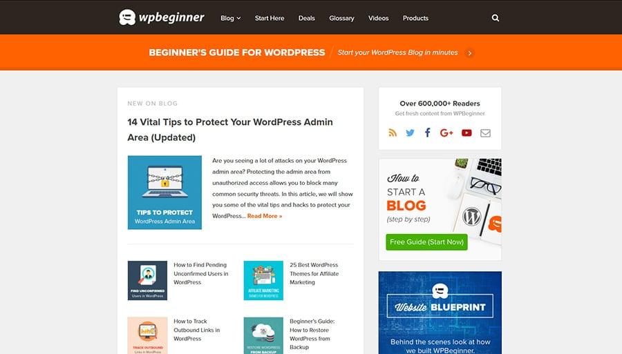 WordPress Blog WPBeginner
