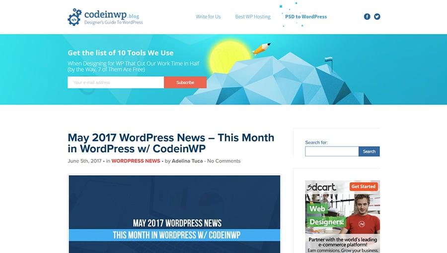 WordPress blog CodeinWP