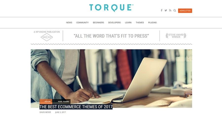 WordPress blog Torque Magazine