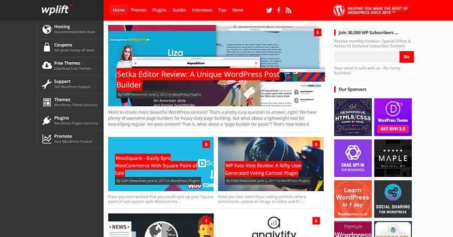 WordPress blog WPLift