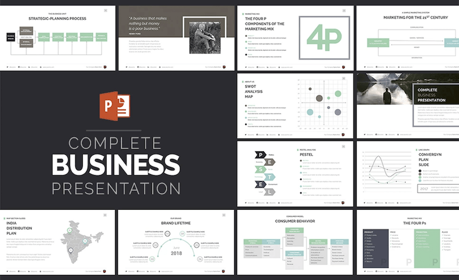 100 professional business presentation templates to use in 2018 professional powerpoint templates wajeb Choice Image