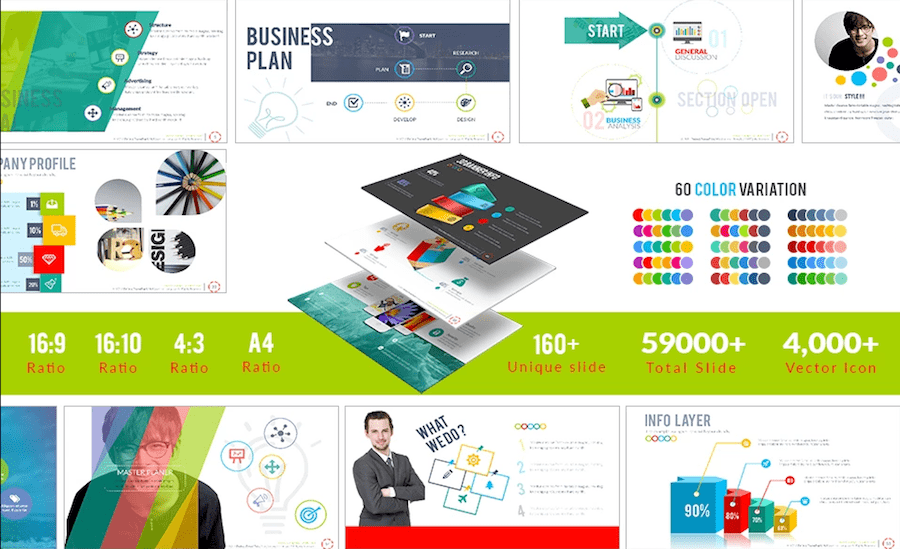 100 professional business presentation templates to use in 2018 professional powerpoint templates toneelgroepblik