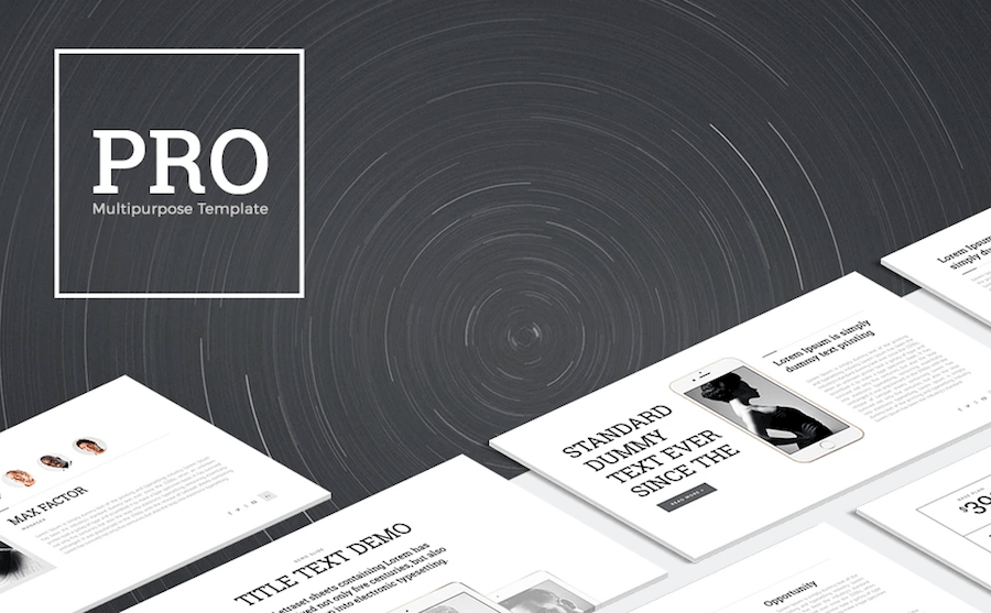 ppt templates black and white