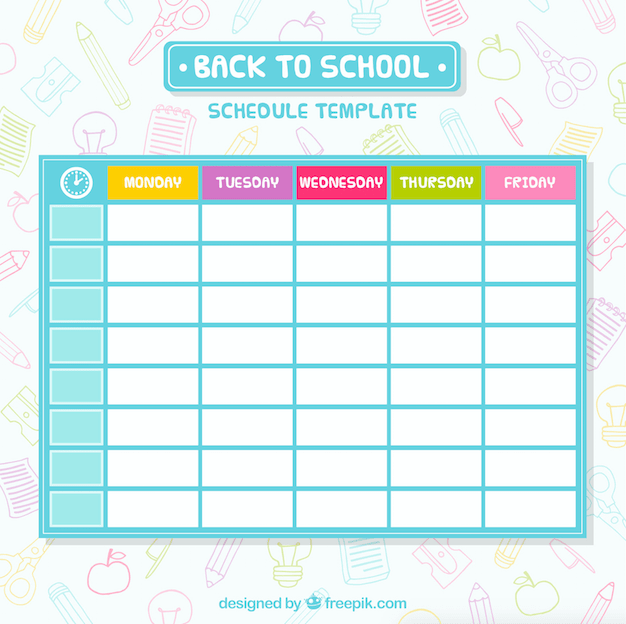 Back To School Images  Class Timetable Template