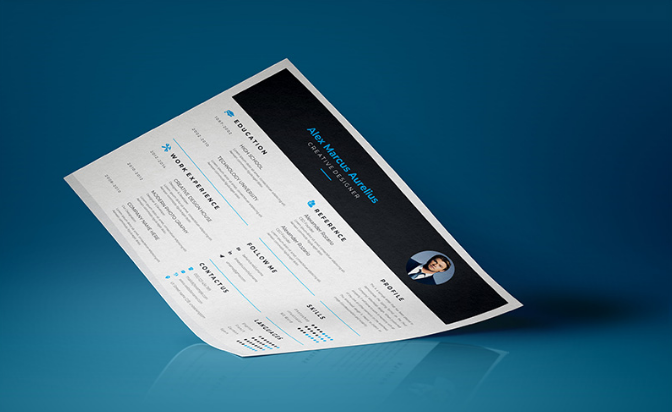 Black & Blue Resume Template