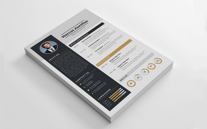 Black & Cream Resume Template