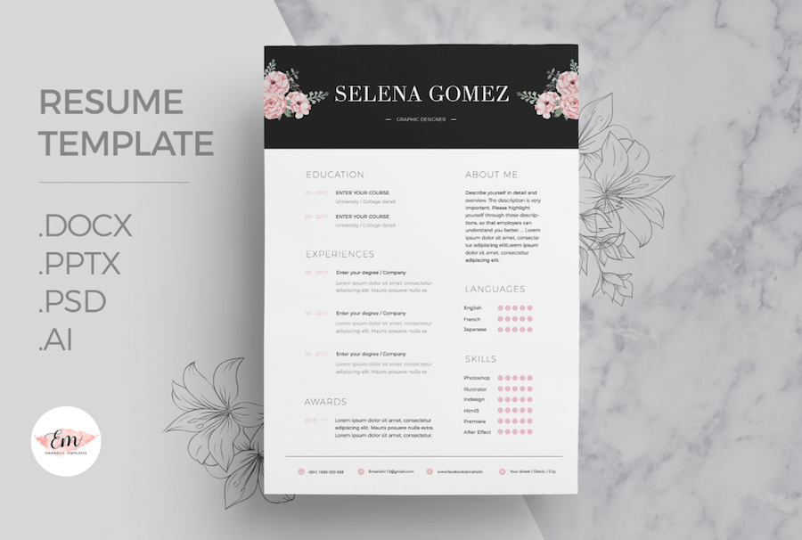 words resume template