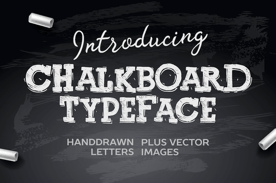 Free chalk hand lettering fonts best choise in