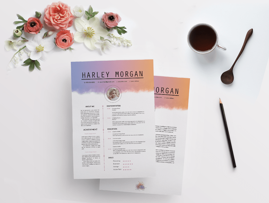 50 Eye Catching Cv Templates For Ms Word Free To Download
