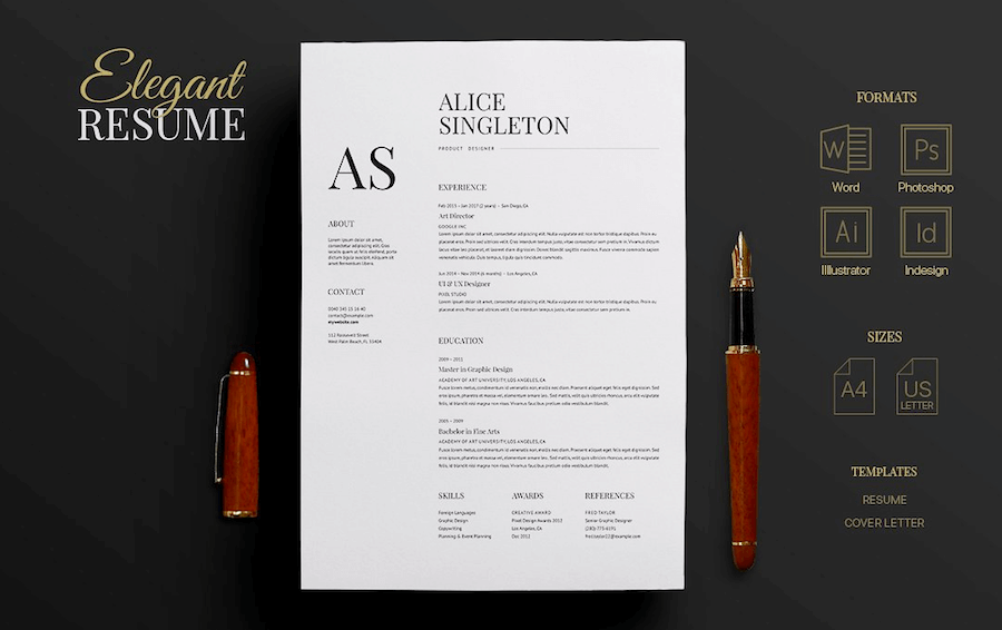 cv template for word - Photoshop Resume Template