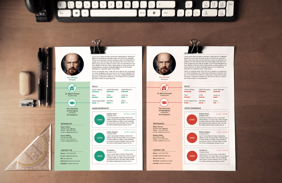 cv template for word - Creative Resume Design Templates