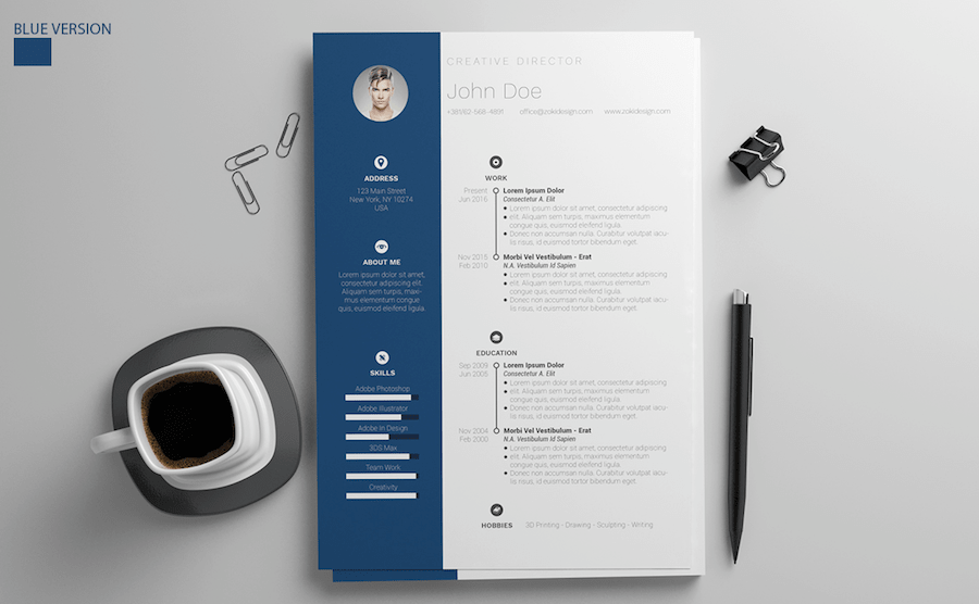 cv template for word - Word Resume Templates Free