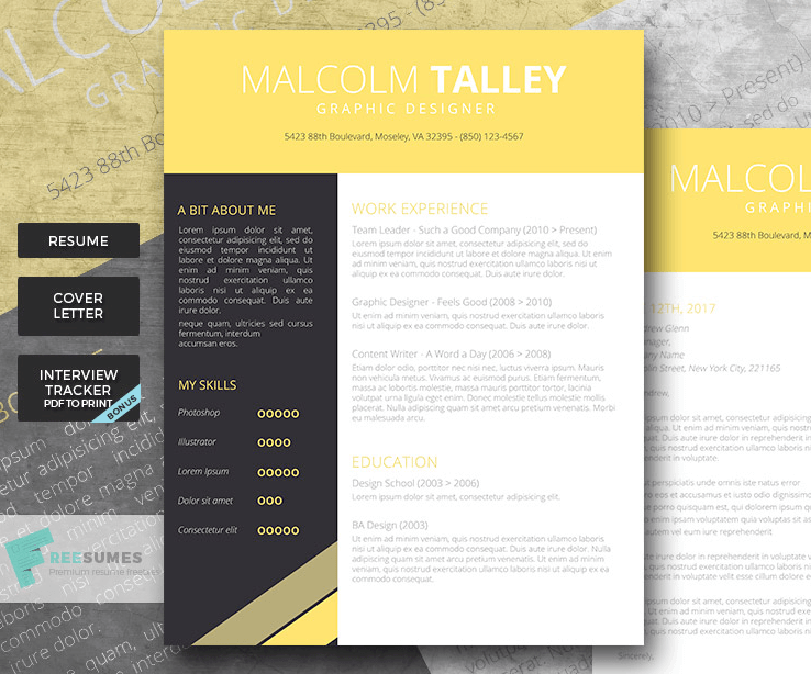50 eye catching cv templates for ms word free to download cv template for word yelopaper Gallery