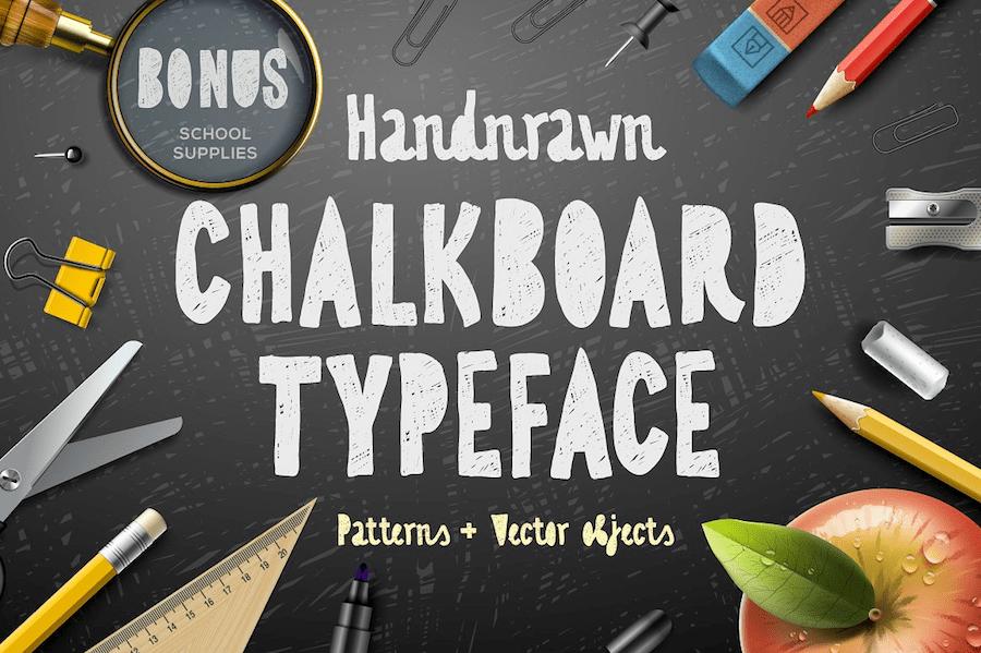 Hand Drawn Chalkboard Typeface Best Fonts