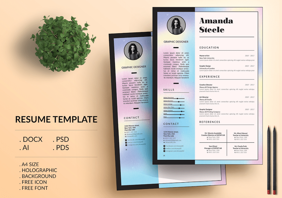 50 eye catching cv templates for ms word free to download cv template for word yelopaper Images
