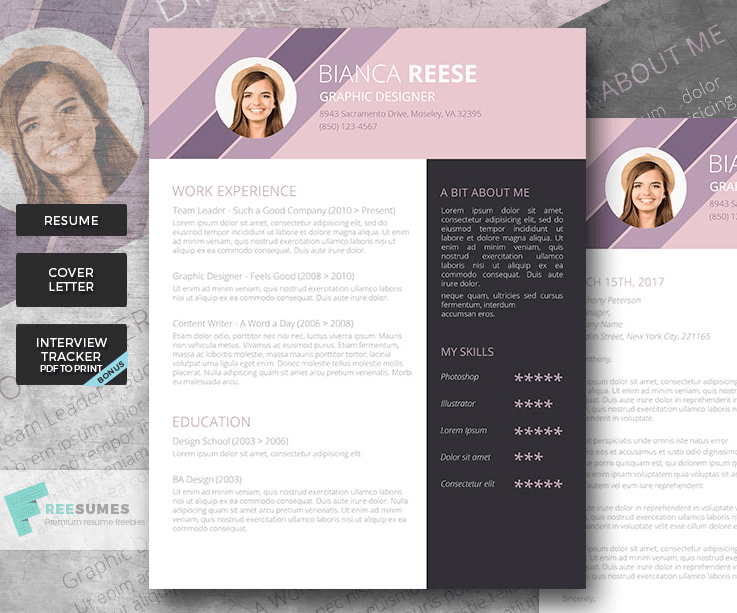 CV Template For Word  Eye Catching Resumes
