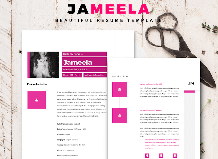 50 eye catching cv templates for ms word free to download cv template for word saigontimesfo