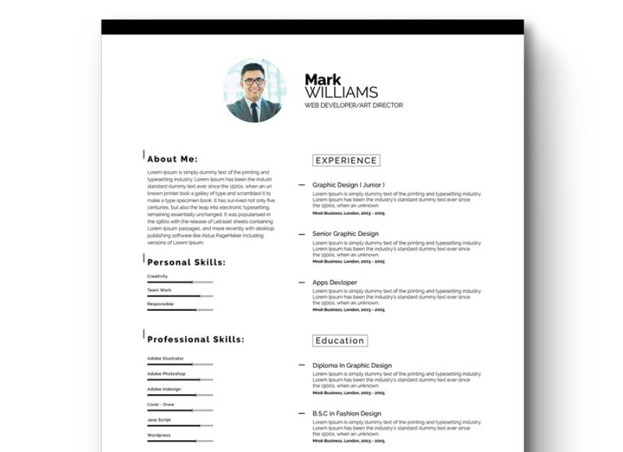 Bon Minimal Resume/CV Resume Template