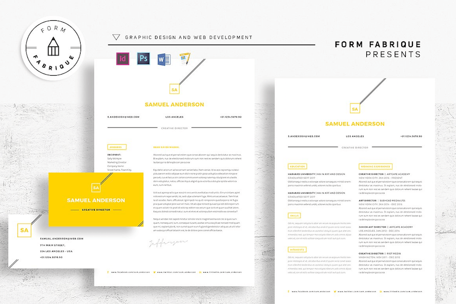 65 Eye Catching Cv Templates For Ms Word Free To Download. Cv Template For Word. Resume. Cv V Resume At Quickblog.org