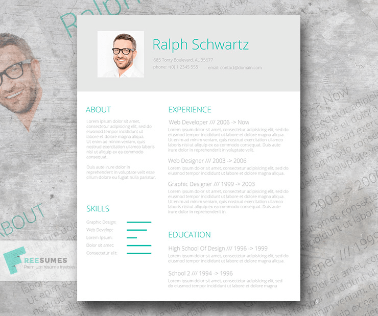 CV Template For Word  Best Word Resume Template