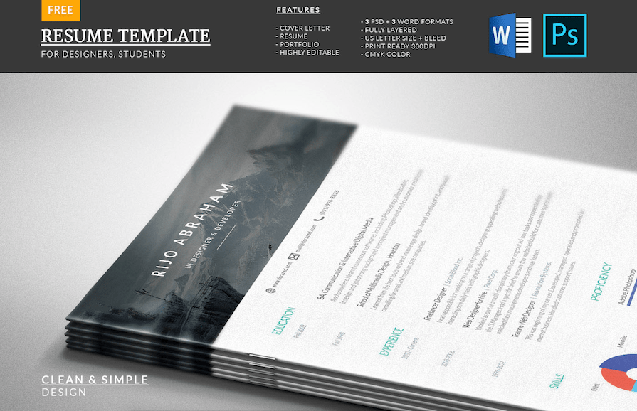 cv template for word - Free Word Resume Template