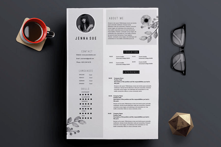 Modern Matching Resume Portfolio Template