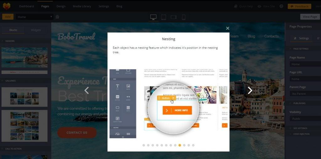 Bootstrap website builder tutorial.